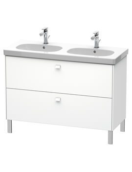Duravit Brioso Floor Standing 1070mm 2 Drawer Vanity Unit For D-Code Basin