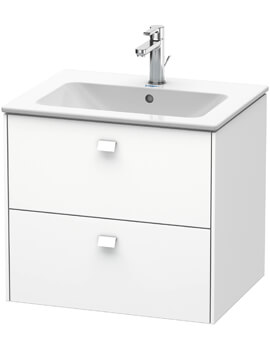Duravit Brioso 2 Drawer Wall Mounted Vanity Unit For ME by Starck Basin
