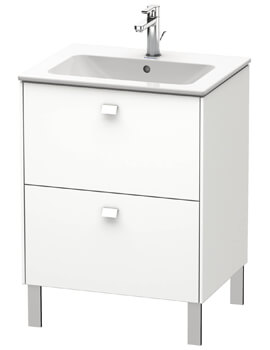 Duravit Brioso Floor Standing 2 Drawer Vanity Unit For ME by Starck Basin