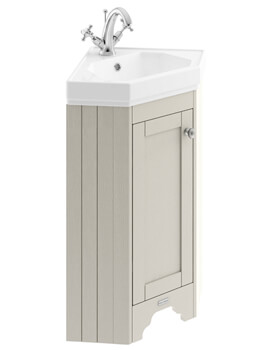 Old London 595mm Timeless Sand Corner Vanity Unit With Basin