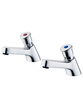 Armitage Shanks Sandringham 21 Pair Of Self Closing 1-2 Inch Pillar Tap