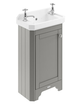 Old London 515mm Floor Standing Vanity Unit With 2 Taphole Basin
