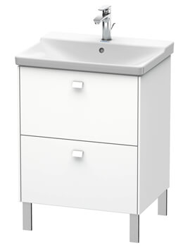 Duravit Brioso Floor Standing 2 Drawer Compact Vanity Unit For P3 Comforts Basin