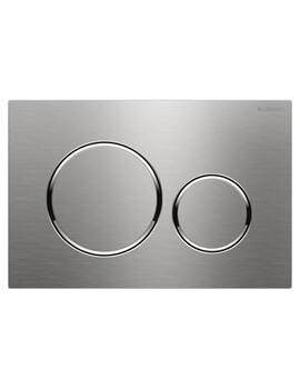 Geberit Sigma20 246 x 164mm Stainless Steel Dual Flush Plate