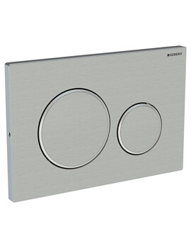 Geberit Sigma20 246 x 164mm Screwable Dual Flush Plate Stainless Steel