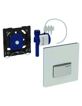 Geberit Sigma50 Glass Urinal Flush Control Pneumatic Actuation