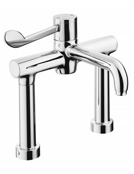Armitage Shanks Markwik 21+ 2 Hole Thermostatic Basin Mixer Tap With Bioguard