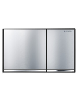 Geberit Omega60 184 x 114mm Dual Flush Plate Brushed Chrome