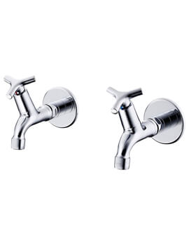 Armitage Shanks Nimbus 21 1-2 Inch Bib Taps With Anti Vandal Spray Outlet Pair