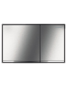 Geberit Sigma60 Brushed Chrome Dual Flush Plate 214 x 132mm