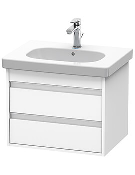 Duravit Ketho 2 Drawer Wall-mounted Vanity Unit With D-Code Basin