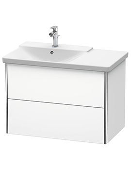 Duravit XSquare 810 x 473 x 565mm Wall-Mounted 2 Drawer Vanity Unit For Basin Left