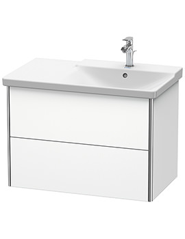 Duravit XSquare 810 x 473 x 565mm Wall-Mounted 2 Drawer Vanity Unit For Basin Right