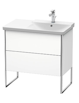 Duravit XSquare 810 x 473 x 805mm Floor-Standing 2 Drawer Vanity Unit For Basin Right