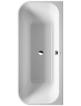 Duravit Happy D2 Back-To-Wall 1800 x 800mm Bath With Panel And Frame