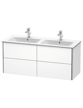 Duravit XSquare 4-Drawer Vanity Unit Wall Mounted - W 1280 x D 478 x H 560mm