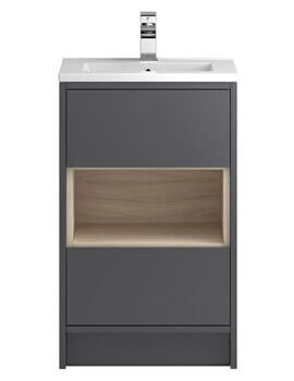 Hudson Reed Coast Floor Mounted Open Shelf Unit With Basin