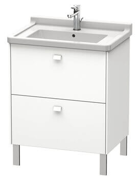 Duravit Brioso Floor Standing 2 Drawer Vanity Unit For Starck 3 Basin