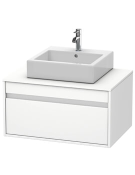 Duravit Ketho 550mm Depth Wall Mounted Single Drawer Above Counter Basin