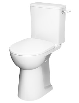 Twyford E100 Square Close Coupled Raised Height Toilet 670mm Pan With Lever Cistern