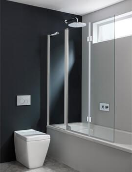 Crosswater Design Plus Triple Bath Screen 1500mm