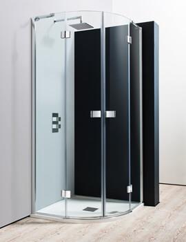 Crosswater Design Quadrant Double Hinged Door Enclosure 800mm