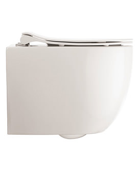 Crosswater Glide II Wall Hung Short Projection Rimless Toilet And Soft Close Seat