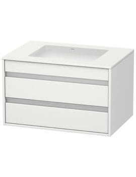 Duravit Ketho 2 Drawer Unit Wall Mounted 550mm Depth For Undercounter Basin F-Bonded