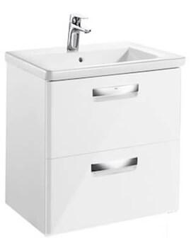 Roca The Gap-N Unik 600mm Gloss White Unit And Basin