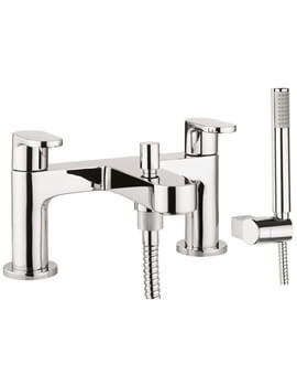 Crosswater Style Deck Mounted Bath Shower Mixer Tap With Kit