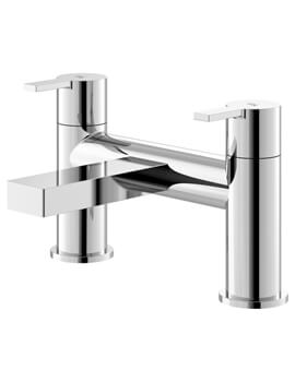 Hudson Reed Willow Chrome Deck Mounted Bath Filler Tap