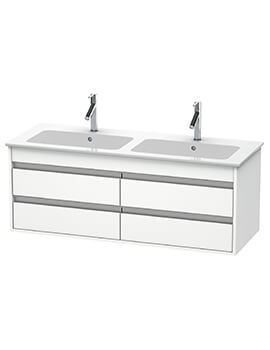 Duravit Ketho 1270 x 475mm Wall Mounted 4 Drawer Vanity Unit