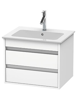 Duravit Ketho 2 Drawer Wall-mounted Vanity Unit With ME By Starck Basin