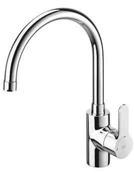 Roca L20 Kitchen Sink Mixer With High Swivel Spout Tap