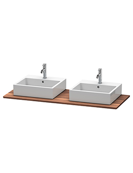 Duravit XSquare Real Wood American Walnut Massive Console With Two Cut-Outs