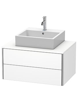 Duravit XSquare 800 x 548mm Wall-Mounted 2-Drawer Vanity Unit For Console