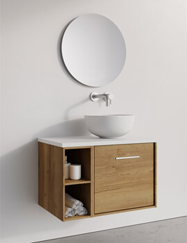 Crosswater Infinity 500mm Wide Wall Mounted Vanity Unit With Base Unit