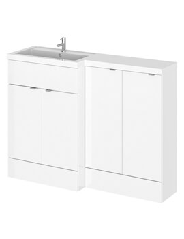 Hudson Reed Fusion 1200mm Full Depth Furniture Pack - Vanity And 2 Base Unit With Basin
