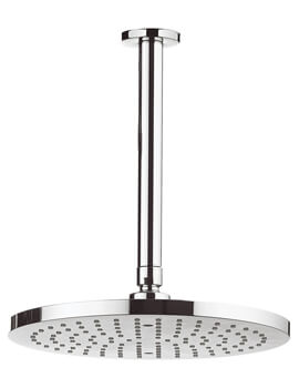 Crosswater Fusion 250mm Round Fixed Shower Head with 200mm Ceiling Arm