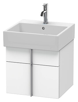 Duravit Vero Air 1 Drawer And 1 Pull-Out Compartment Wall-mounted Vanity Unit With Basin
