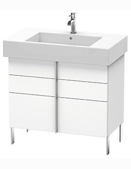 Duravit Vero Air 446mm Depth Floor Standing 2 Drawers Vanity Unit And Basin
