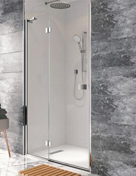 Crosswater Design Plus Hinged Shower Door With Inline Panel