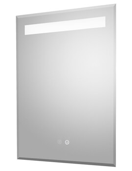 Hudson Reed Vizor 500 x 700mm LED Mirror Glass With Demister Pad