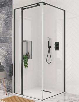 Crosswater Design Plus Pivot Door With Inline Panel