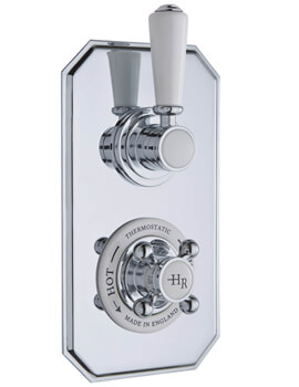 Hudson Reed Topaz Twin Thermostatic Shower Valve With Diverter