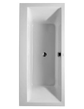 Duravit Vero Double Ended Rectangular Bath With Dual Backrest Slopes