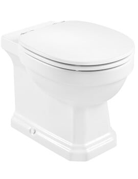 Roca Carmen Single Floorstanding Rimless WC With Dual Outlet