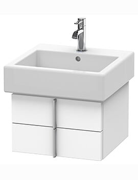 Duravit Vero Air 431mm Depth Wall Mounted 1 Open Compartment Vanity Unit And Basin