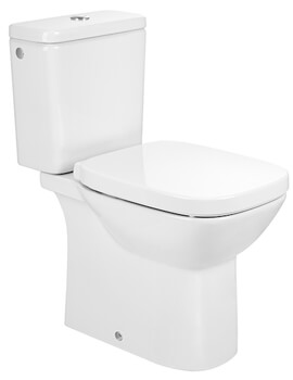 Roca Debba Rimless Open-Back Close Coupled Toilet With Cistern