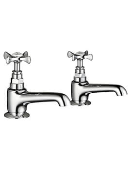 Mira Virtue Pair Of Cosshead Handle Pillar Taps For Basin